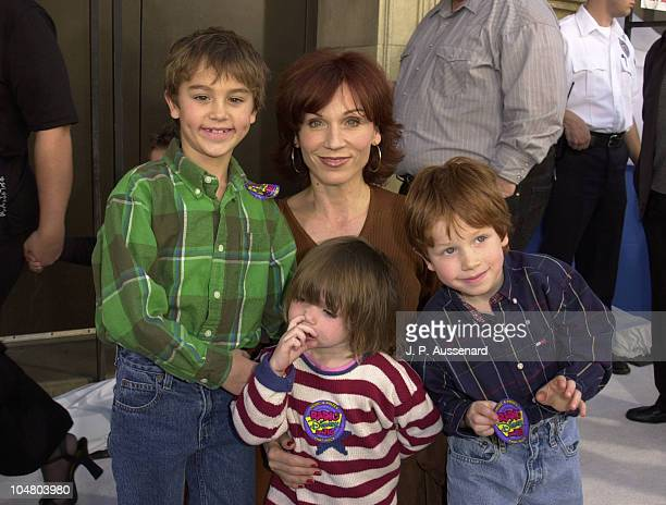 Marilu Henner sons Nicky Joey niece Charlotte during Snow Dogs Premiere at El Capitan Theatre in Hollywood California United States