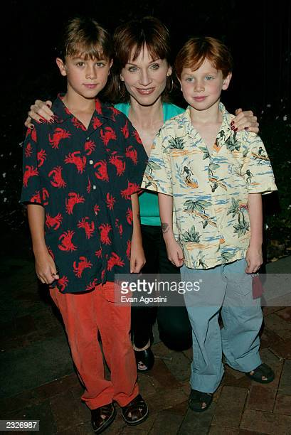Marilu Henner with her sons Nicky and Joey arriving at the Lord Of The Rings The Fellowship of the Ring DVD release event to benefit The Creative...