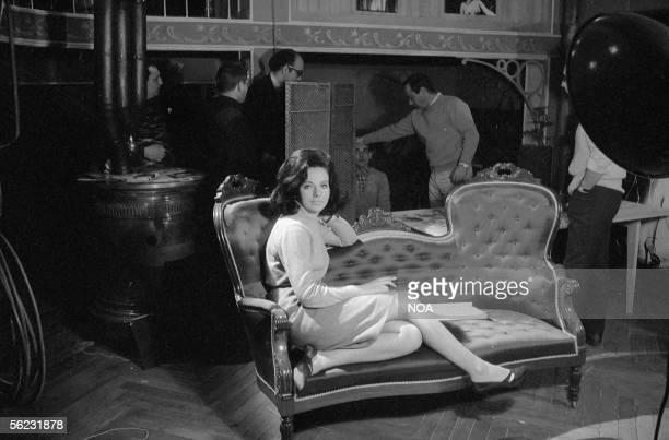 """Marilu Tolo, Italian actress, in the movie """" Avec la peau des autres """" of Jacques Deray. Paris, 1966. HA-1053-3."""
