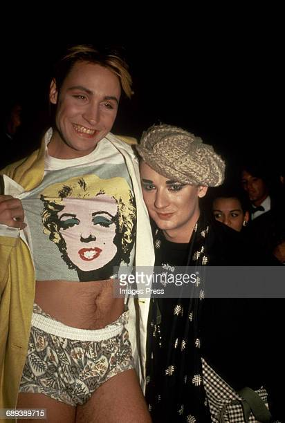 Marilyn and Boy George circa 1985 in New York City