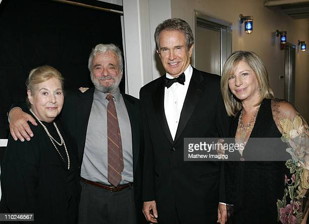 Marilyn Bergman Stephen Sondheim Warren Beatty and Barbra Streisand **exclusive**