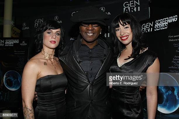 Marilyn Cole musician Toledo and musician Mimi Cantu arrive at the premiere of Samuel Goldwyn Films' Dark Streets held at the Arclight Theaters on...