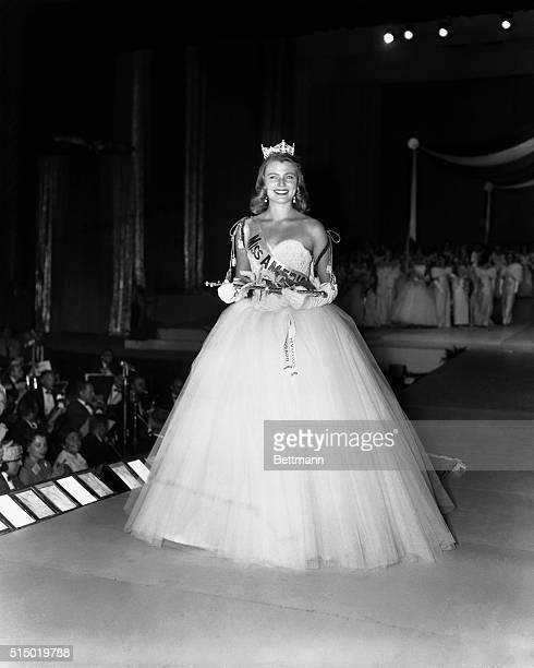 Marilyn Elaine Van Derbur of Colorado wears winning smile after being crowned Miss America tonight at the Annual Pageant in Atlantic City tonightThe...