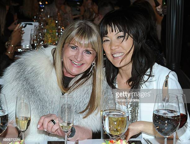Marilyn Heston and Jene Park attend a private dinner hosted by Farfetch Erica Pelosini Angelique Soave DJ Kiss to celebrate Farfetch in LA on...