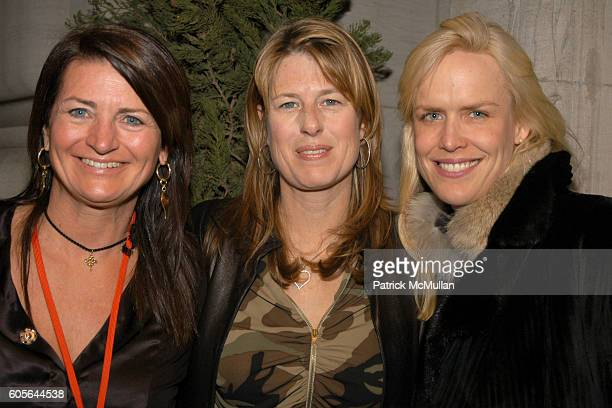Marilyn Heston Ann Colley and Beth Ostrosky attend NICOLE MILLER Fashion Show at The New York Yacht Club on February 3 2006 in New York