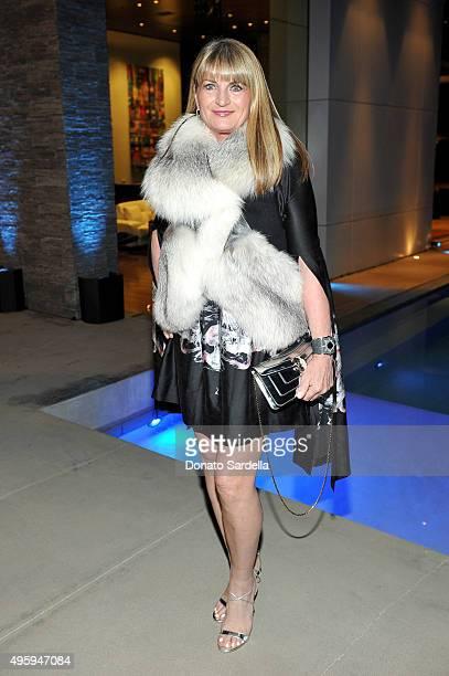 Marilyn Heston attends a private dinner hosted by Farfetch Erica Pelosini Angelique Soave DJ Kiss to celebrate Farfetch in LA on November 5 2015 in...
