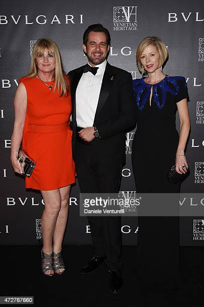 Marilyn Heston Stephan Gerschel and Rebecca Carcelle attend the Venetian Heritage And Bulgari Gala Dinner at Cipriani Hotel on May 9 2015 in Venice...