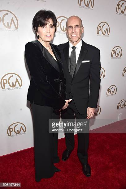 Marilyn Katzenberg and Chief Executive Officer and Director of DreamWorks Animation SKG Jeffrey Katzenberg attend 27th Annual Producers Guild Of...