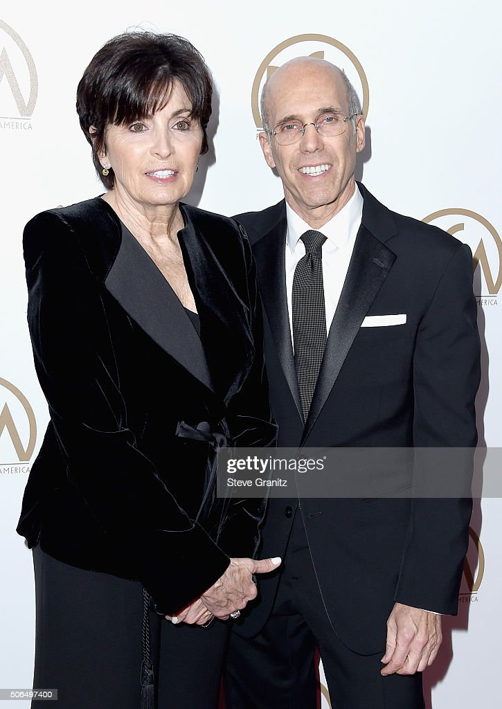 Marilyn Katzenberg (L) and Chief Executive Officer and Director of DreamWorks Animation SKG Jeffrey Katzenberg attend the 27th Annual Producers Guild Awards at the Hyatt Regency Century Plaza on January 23, 2016 in Century City, California.