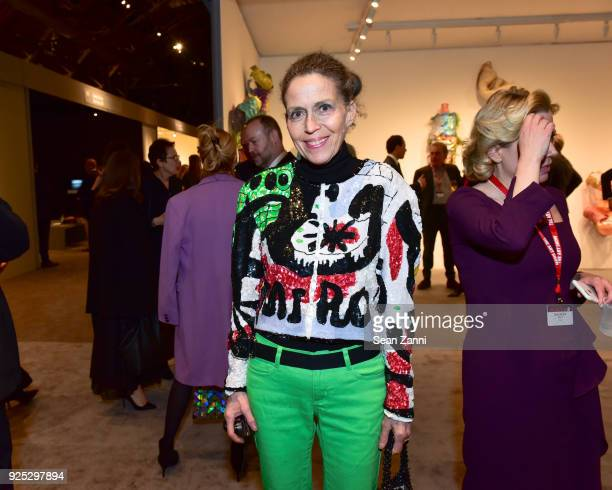 Marilyn Kirschner attends The Art Show Gala Preview at Park Avenue Armory on February 27 2018 in New York City