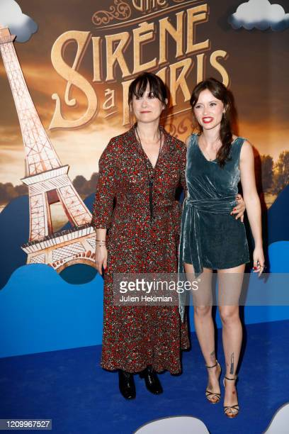 Marilyn Lima and her mother attend the Une Sirene A Paris premiere at Cinema Max Linder on March 02 2020 in Paris France