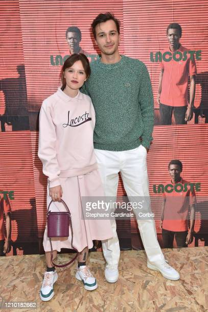 Marilyn Lima and Michel Biel attend the Lacoste show as part of the Paris Fashion Week Womenswear Fall/Winter 2020/2021 on March 03 2020 in Paris...