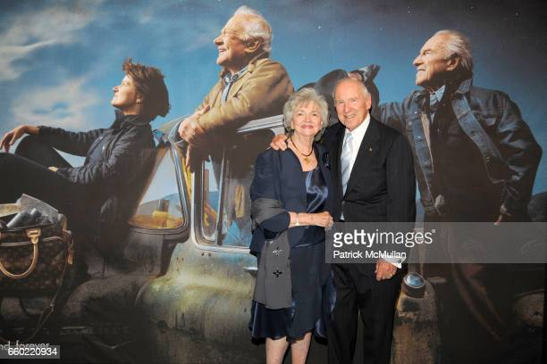 Marilyn Lovell and Jim Lovell attend LOUIS VUITTON 40th Anniversary of the Lunar Landing Tribute Event at Rose Center for Earth and Space on July 13...