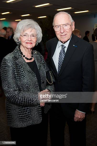 Marilyn Lovell and Jim Lovell attend the 2011 Chicago Public Library Foundation and Chicago Public Library gala benefit awards dinner at the...