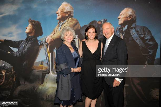 Marilyn Lovell Caroline Harrison and Jim Lovell attend LOUIS VUITTON 40th Anniversary of the Lunar Landing Tribute Event at Rose Center for Earth and...