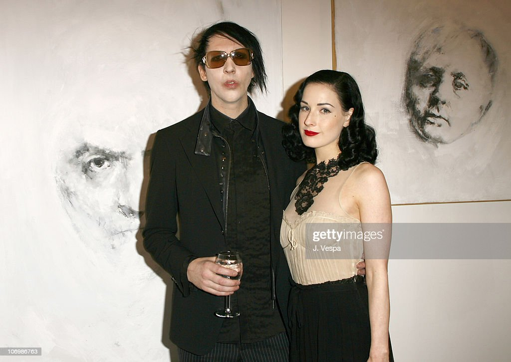 Johnny Depp and Trigg Ison Host the Premiere American Exhibition of Gravleur : News Photo
