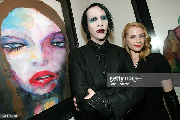 Marilyn Manson and Evan Rachel Wood in Los Angeles, California