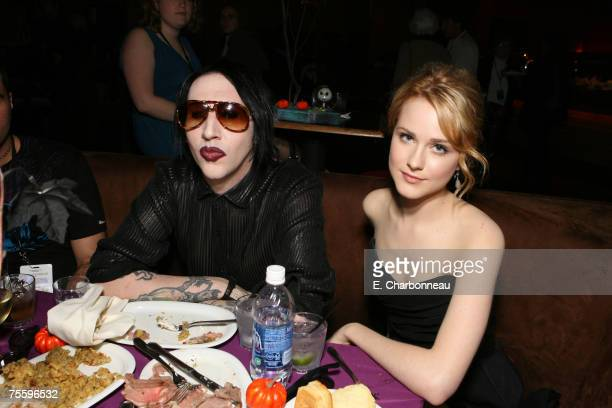 Marilyn Manson and Evan Rachel Wood