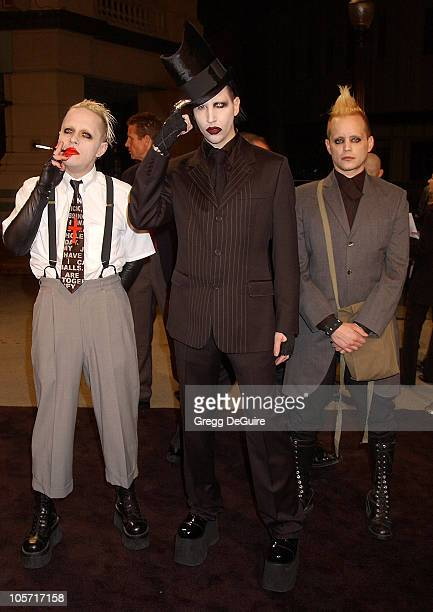 Marilyn Manson and guests during Final Flight Of The Osiris World Premiere at Steven J Ross Theatre in Burbank California United States