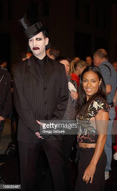 "Marilyn Manson and Jada Pinkett Smith during ""Final Flight Of The Osiris"" World Premiere at Steven J. Ross Theatre in Burbank, California, United..."