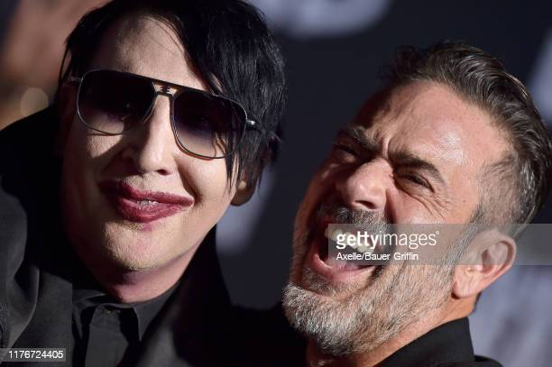 "Marilyn Manson and Jeffrey Dean Morgan attend the Special Screening of AMC's ""The Walking Dead"" Season 10 at Chinese 6 Theater– Hollywood on..."