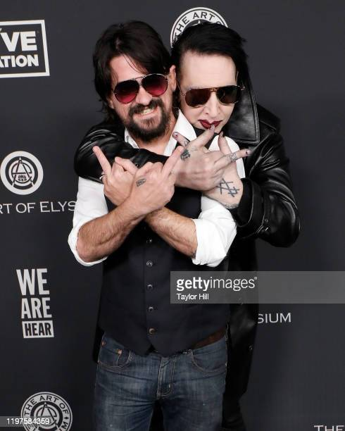 Marilyn Manson and Shooter Jennings attend The Art of Elysium's 13th Annual Heaven Gala at Hollywood Palladium on January 04, 2020 in Los Angeles,...