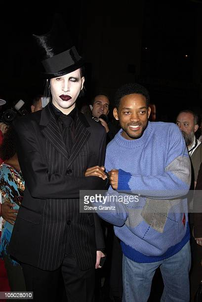 """Marilyn Manson and Will Smith during """"Final Flight Of The Osiris"""" World Premiere at Steven J. Ross Theatre in Burbank, California, United States."""