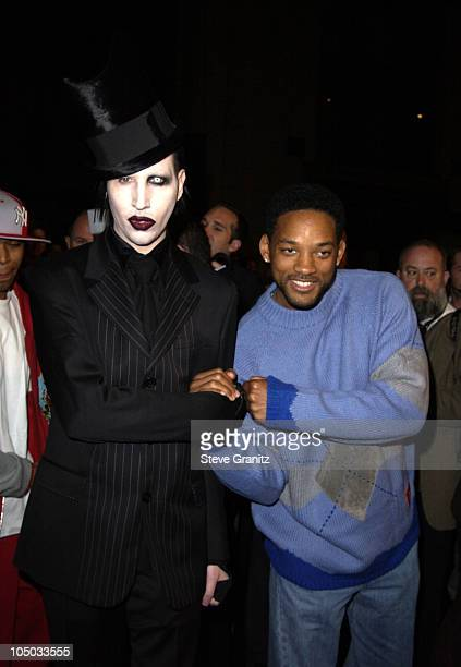 Marilyn Manson and Will Smith during Final Flight Of The Osiris World Premiere at Steven J Ross Theatre in Burbank California United States