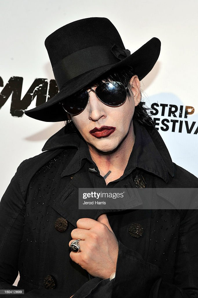 Marilyn Manson arrives at the 5th Annual Sunset Strip Music Festival launch with a celebration of  sc 1 st  Getty Images & The 5th Annual Sunset Strip Music Festival Launches With A ...