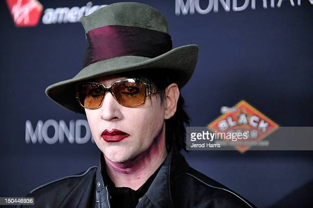 Marilyn Manson arrives at the 5th Annual Sunset Strip Music Festival official VIP party sponsored by Black Star Beer and Virgin America at Sky Bar...