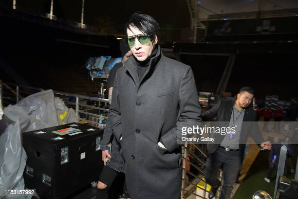 Marilyn Manson attends 2019 iHeartRadio Wango Tango presented by The JUVÉDERM® Collection of Dermal Fillers at Dignity Health Sports Park on June 01...