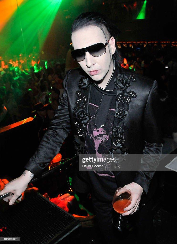 Marilyn Manson Hosts Halloween Party At HAZE Nightclub At Aria ...