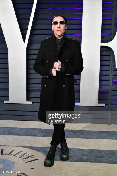 Marilyn Manson attends the 2019 Vanity Fair Oscar Party hosted by Radhika Jones at Wallis Annenberg Center for the Performing Arts on February 24...