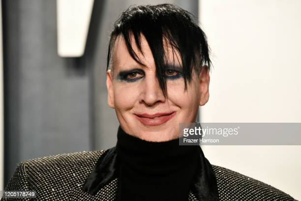 Marilyn Manson attends the 2020 Vanity Fair Oscar Party hosted by Radhika Jones at Wallis Annenberg Center for the Performing Arts on February 09,...