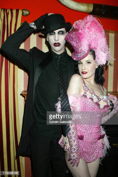 Marilyn Manson, Dita Von Teese during Dita Von Teese performs a strip tease at Show Nightclub in New York, New York, United States.