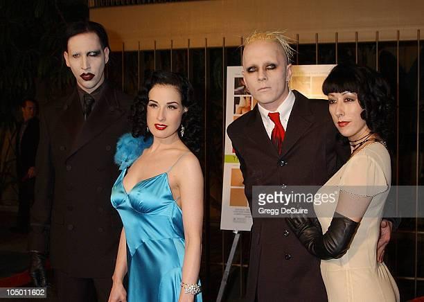 Marilyn Manson Dita Von Teese Tim Skold guest