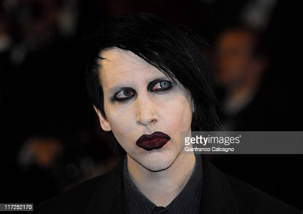 Marilyn Manson during 2006 Cannes Film Festival Southland Tales Premiere at Palais des Festival in Cannes France