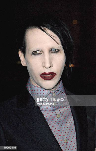 Marilyn Manson during American and British Vogue London Fashion Week Cocktail Party February 17 2006 at Luciano's Restaurant in London Great Britain