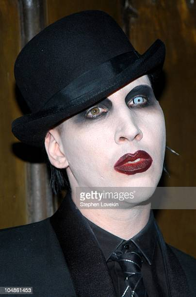 Marilyn Manson during Burlesque Performance By Dita Von Teese For Her Boyfriend Marilyn Manson at Show in New York City New York United States