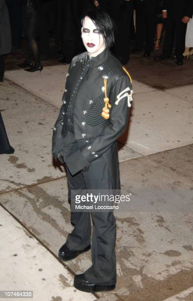 Marilyn Manson during 'Chanel' Costume Institute Gala Opening at the Metropolitan Museum of Art Arrivals at Metropolitan Museum of Art in New York...
