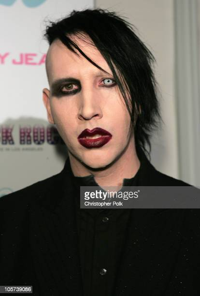Marilyn Manson during DKNY Jeans and LoFi Gallery Present 'Mick Rock Live in LA' Exhibit at LoFi Gallery in Hollywood California United States