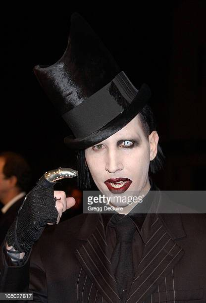 Marilyn Manson during Final Flight Of The Osiris World Premiere at Steven J Ross Theatre in Burbank California United States