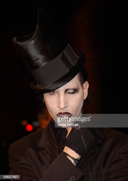"""Marilyn Manson during """"Final Flight Of The Osiris"""" World Premiere at Steven J. Ross Theatre in Burbank, California, United States."""