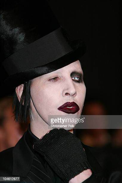 "Marilyn Manson during ""Final Flight Of The Osiris"" World Premiere at Warner Bros. In Burbank, CA, United States."