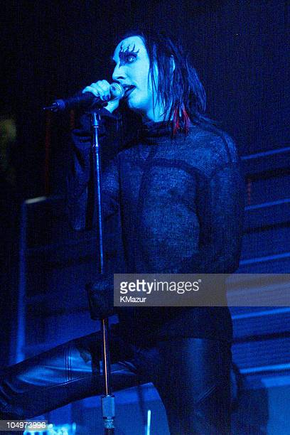 Marilyn Manson during Marilyn Manson 'Holy Wood' Album Release at Saci Club in New York City New York United States