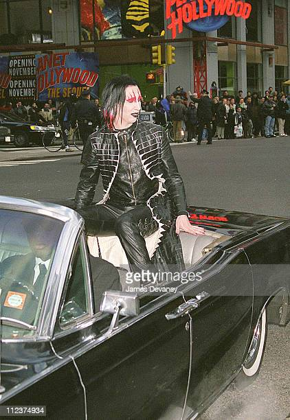 Marilyn Manson during Marilyn Manson Visits MTV's 'TRL' November 15 2000 at MTV Times Square Studios in New York City New York United States