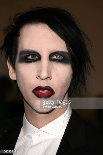 Marilyn Manson during The Costume Institute Gala celebrating AngloMania Tradition and Transgression on British Fashion at Metropolitan Museum of Art...