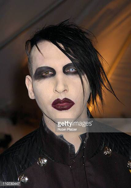 Marilyn Manson during The Costume Institute's Gala Celebrating 'Chanel' at The Metropolitan Museum of Art in New York City New York United States