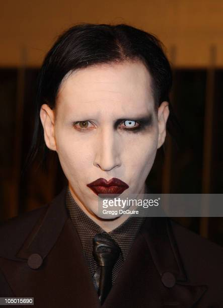 Marilyn Manson during 'The Rules of Attraction' Premiere Arrivals at The Egyptian Theatre in Hollywood California United States