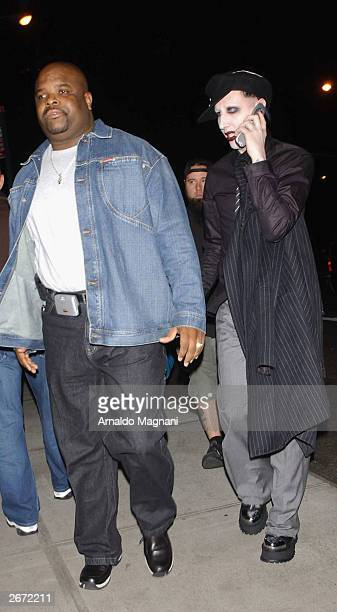Marilyn Manson is seen on October 21 2003 in New York City
